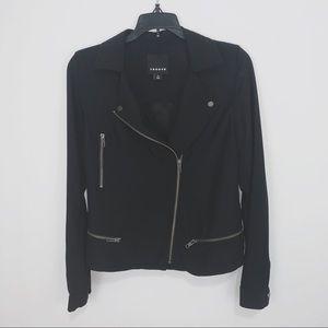 Trouve Black Stretch Moto Thin Jacket